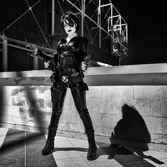 Neena Thurman (R.o.b.e.r.t.o.) Tags: domino neenathurman xforce marvelcomics fantasy romics primavera spring 2017 roma cosplay costume ritratto portrait rome italia italy girl ragazza cosplayer model modella people ombra shadow biancoenero bw blackandwhite fumetti