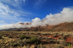 Utah - Mist On The Moab Mountains (JimP (in Sarnia)) Tags: utah moab