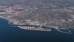 Malmö from above (Aaron James Rodgers) Tags: city aerialphotography scandinavia windowshot sweden malmö travel sea