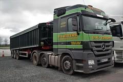 DSC_0015 (richellis1978) Tags: truck lorry haulage transport logistics hgv lgv cannock mercedes benz actros mp3 tipper bj waters derbyshire wv12yfc