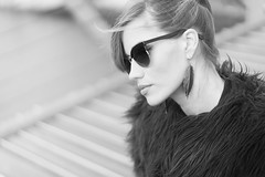 Wonder (miguel_lorente) Tags: blacknwhite portrait girl portraiture sunglasses bnw bw young blonde woman blackandwhite