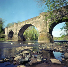Dry Ayr (wheehamx) Tags: river ayr pinhole colour oswald bridge