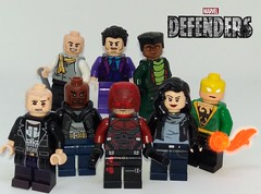 The Defenders (Barratosh#2) Tags: marvel netflix defenders daredevil power man jewel punisher iron fist danny rand jessica jones matt murdock luke cage frank castle purple wilson fisk kingpin kilgrave lego minifigure