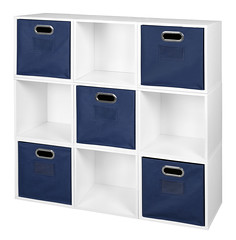 PC9PKWH_HTOTEBE (RegencyOfficeFurniture) Tags: niche regency cubo cubestorage modularstorage modular connecting connectable adaptable custom customizable cube square storageset closet organizer organization furniture cubes expandable home melamine laminate woodtone white whitewoodgrain pc9pk pc1211wh blue bluestorage bluebins navyblue navy darkblue bluetotes hotebe