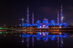 Reflections (kleptografy) Tags: abudhabi asia grandmosque uae architecturebuilding mosque night totalphoto