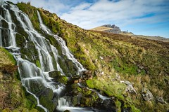 Old Man is Watching (Wim Air) Tags: storr scotland skye waterfall water wimairat bernhard wimmer