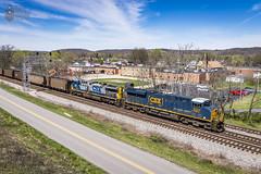 CSXT T380-05 in Spring Valley, WV (Cory Claxon) Tags: csx coal railroad ge es44ac train hopper