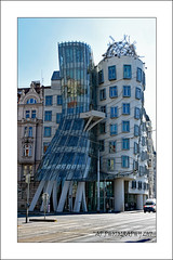 "Dancing Building, ""Fred & Ginger"" (prendergasttony) Tags: outdoors elements nikon d7200 building fred ginger dancing prague europe vaction holiday václav havel architect blue astaire rogers baroque gothic artnouveau dancingbuilding reflection curves street"