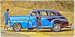 Blue Kar (plismo) Tags: chivirico santiagodecuba cuba cubans car auto blue bluecar road hotel brisassierramar wheels plismo