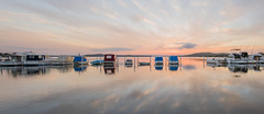 Swansea-boats-pano (Mel Gray) Tags: swansea newsouthwales newcastle lakemacquarie sunset boats water lake landscape waterscape lakeview slowshutterspeed nikond810 nikon1424mm