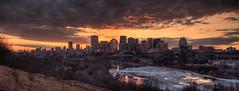 Sunset over Edmonton - 8 (John Payzant) Tags: panorama alberta hdr edmonton canada river