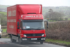 Mercedes Atego T barron & Co Ltd CN05 CFJ (SR Photos Torksey) Tags: truck transport haulage hgv lorry lgv logistics road commercial vehicle traffic freight mercedes atego barron removals