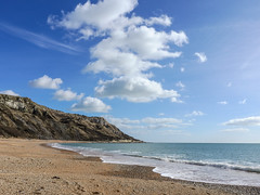 Earth Day 2017 (DigitalLyte) Tags: earthday 2017 ringsteadbeach whitenothe dorset england uk britain shore shingle beach waves headland cliffs clouds sky englishchannel earth world quote chiefseattle