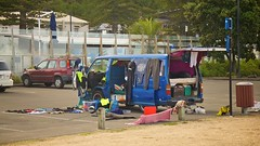 Young Blood (4oClock) Tags: carsinnewzealand nikon newzealand nz15 2015 car vehicle worldcars vanlife napier hawkesbay toyota hiace blue honda crv red life belongings camping japanese van living