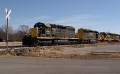 Consist of SD40-2 Locomotives (Photographs By Wade) Tags: ramona oklahoma train skol southkansasandoklahoma washingtoncounty locomotives freight sd402 exsouthernpacific exsp exburlingtonnorthern