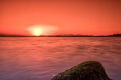 Red sunset (Fabrizio Contu) Tags: sunset landscape seascape lagoon water sun colors red sardegna sardinia cagliari santagilla fujifilm fujifilmxt10 845mmfilters