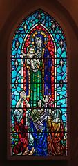 Hallgrímskirkja - Reykjavic (nickturner5) Tags: stainedglass glass church christianity light colour framing iceland reykjavic