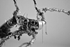 Sculpture from recycled metal Daemon B&W 2 (Vortex67) Tags: art metal handmade wire sculpture recycled robot craft démon daemon monster montre