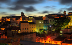Barra Pelourinho, Salvador, Brazil (Kenneth Back) Tags: blue landscape sunset brazil centrohistórico salvador longexposure pelourinho evening cityscape bahia br