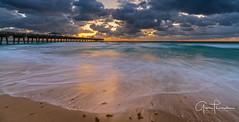 Florida Life: Shifting Sand (Thūncher Photography) Tags: sony a7r2 sonya7r2 ilce7rm2 zeissfe1635mmf4zaoss fx fullframe longexposure scenic landscape waterscape oceanscape beach tropical sand waves pier sky clouds nature outdoors sunrise junobeach junobeachpier jupiter palmbeachcounty florida southeastflorida