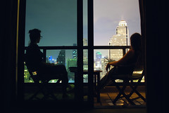 With my sister during our first night in Bangkok (Arianna Rubini) Tags: bangkok thailand metropolis skyscaprer night city lights simple beauty girls sister nikon peninsula hotel landscape panorama