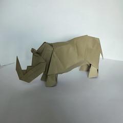 Rhinoceros (orig4mi.) Tags: origami paper folding rhinoceros
