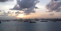 Ships waiting to transit (Hear and Their) Tags: panama canal atlantic caribbean norwegian pearl colon gatun