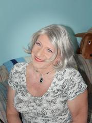 Just Call Me A Cockeyed Optimist . . . (Laurette Victoria) Tags: gray woman necklace laurette