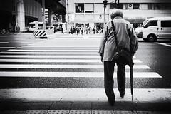 Anxiety (tomorca) Tags: old age crosswalk japan monochrome street fujifilm xt2
