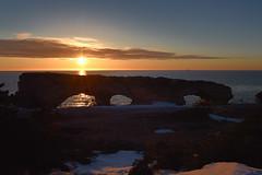 The Arches And Iceberg (Zircon_215) Tags: iceberg ice newfoundland westcoast straitofbelleisle thearchesprovincialpark greatnorthernpeninsula