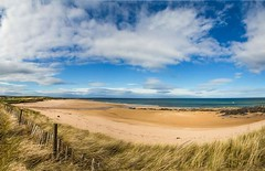 St Combs beach, Aberdeenshire.  Spring has sprung :) 12 pic stitch panorama. (Sunshinenshadows) Tags: stcombs aberdeenshire bigskies blueskies clouds scotland