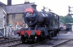 4277  Grosmont  17.06.00 (w. + h. brutzer) Tags: grosmont webru eisenbahn eisenbahnen train trains england dampflok dampfloks steam lokomotive locomotive analog nikon railway
