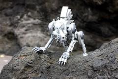 First Encounter (icycruel) Tags: lego moc beast mech wolf fenrir outpost charlie hopper grizzly sci fi