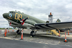 Douglas C-47 Skytrain (Dakota in the RAF) (SteveMather) Tags: port front quarter douglas c47 skytrain dakota dc3 maps militaryaviationpreservationsociety air museum green akroncanton airport ohio 2017 iphone procamera vividhdr dfine viewpoint smartphotoeditor tail dragger gooneybird rupturedduck military aircraft airplane helicopter goodyear blimp