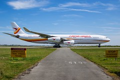 Surinam Airways / PZ-TCR / Airbus A340-300 / EHAM-AMS taxiway V / © (RVA Aviation Photography (Robin Van Acker)) Tags: schiphol amsterdam airport planes trafic airlines avgeek airliner outdoor airplane aircraft vehicle jetliner jet jumbo air photography aviation avitionphotography
