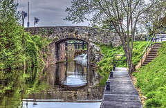 13th Lock [HDR] (@JohnA390) Tags: royalcanal 13thlock deeybridge leixlip cokildare reflections hdr photomatix jetty lock trees water