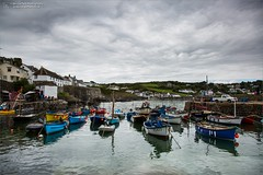 Coverack Harbour (Ian Garfield - thanks for over 1 Million views!!!!) Tags: cornwall ian garfield photography south west coast cornish beach bay harbour boat boats sand waves landscape outdoor shore seasidecoverack cloud tranquil water calm lizard point