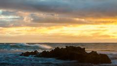 Sky came alive (Derek Midgley) Tags: p4281708 sky evening sunset rye ocean beach number16 handheld long exposure