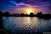 Sunset in Pamukkale (zulkifaltin) Tags: pamukkale park denizli türkiye turkey manzara landscape water su göl sunset günbatımı güneş sun gümüş