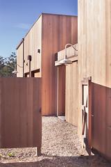 Outside Gate (Peter Alfred Hess) Tags: california ranch wood sea house architecture design coastal elbasani
