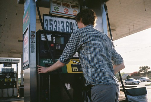 Travis Getting Gas