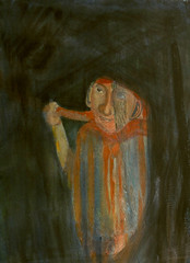 through the veil (nowgarden) Tags: mystery watercolor veil depth traveler