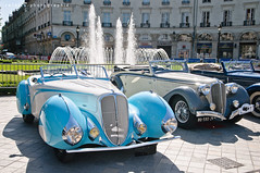 The 135. (BenjiAuto (Ratet B. Photographie)) Tags: show road blue france classic cars sport french nikon meeting gear convertible grand grandprix prix ms autos 135 18 50 tours luxury rare supercar supercars roadster cabriolet delahaye 18105 55200 touraine d