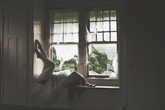 Summertide (bellydnce1103) Tags: windows light house selfportrait abandoned window girl decay low petticoat