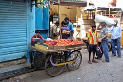 Mumbai Street Stall (PJR Photography) Tags: india market streetphotography bombay mumbai ipad indialife snapseed