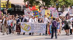 Mormons for Marriage Equality, San Francisco Pride 2013 (InSapphoWeTrust) Tags: sanfrancisco california usa unitedstates unitedstatesofamerica lgbt bayarea northamerica christianity lds mormons latterdaysaints mormonism sanfranciscopride churchofjesuschristoflatterdaysaints