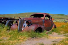 Bodie Ghost Town (Spebak) Tags: classic abandoned field rust july roadtrip vehicle ghosttown bodie desolate deserted bodieghosttown fieldcar abandonedvehicle 2013 rustinpeace roadphotos july2013 bodiecaliforniaghosttowndeserted