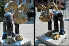 Groscar (pefkosmad) Tags: charity uk england sculpture art public bristol publicart gromit 2013 fibreglasspublicart gromitunleashed