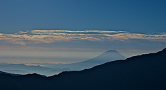 Silhouette of Mt. Fuji (Yoshia-Y) Tags: sky mountain japan fog day cloudy mtfuji