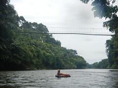 Tubing under the bridge